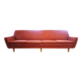 Mid-Century Modern Swedish Space Age Folke Ohlsson for Dux Red Sofa For Sale