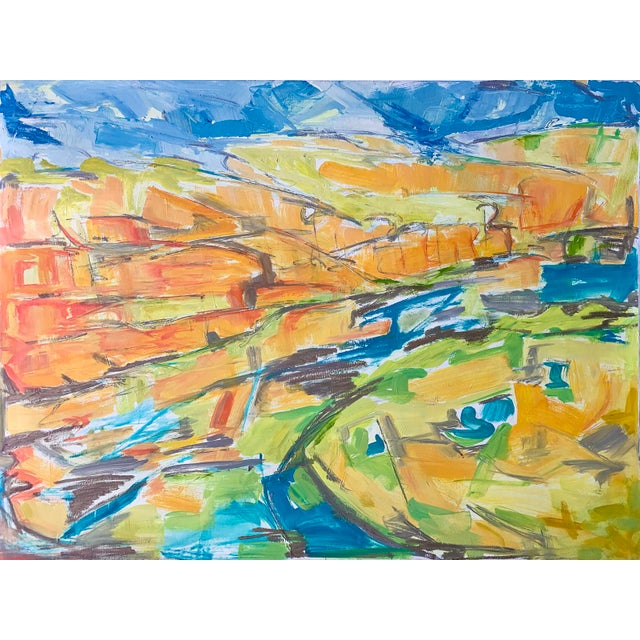 """Kimberley Gorge"" by Trixie Pitts Abstract Landscape Oil Painting For Sale - Image 10 of 11"