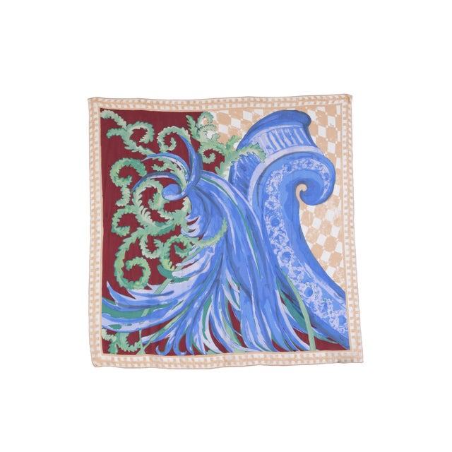 """Early 21st Century Silk Chiffon Pucci """"Wave"""" Scarf For Sale - Image 5 of 5"""