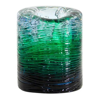 Jungle Contemporary Vase, Small Bicolor Transparent and Green resin by Jacopo Foggini For Sale