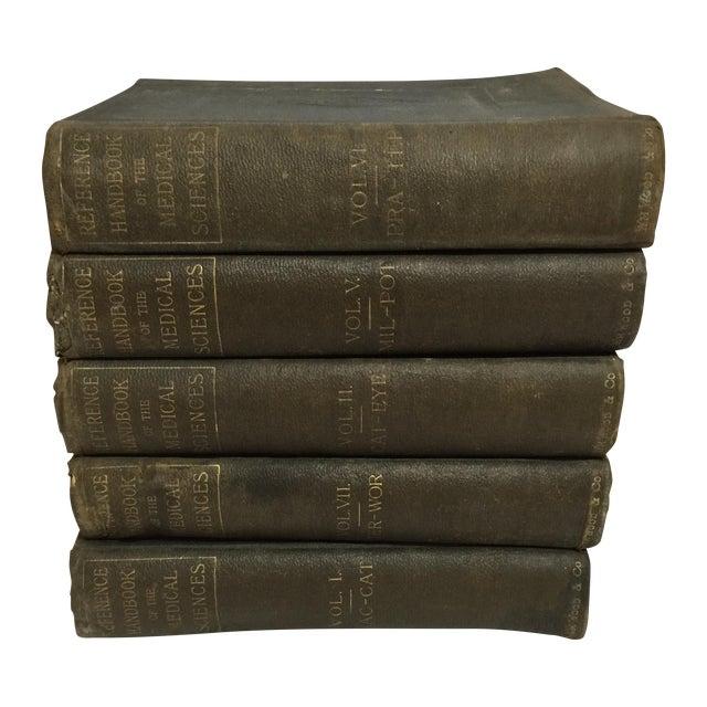 Large Antique Medical Books - Set of 5 - Image 1 of 9