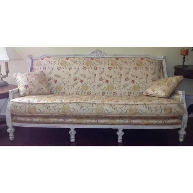 Antique Louis XVI Style French Settee - Image 2 of 9