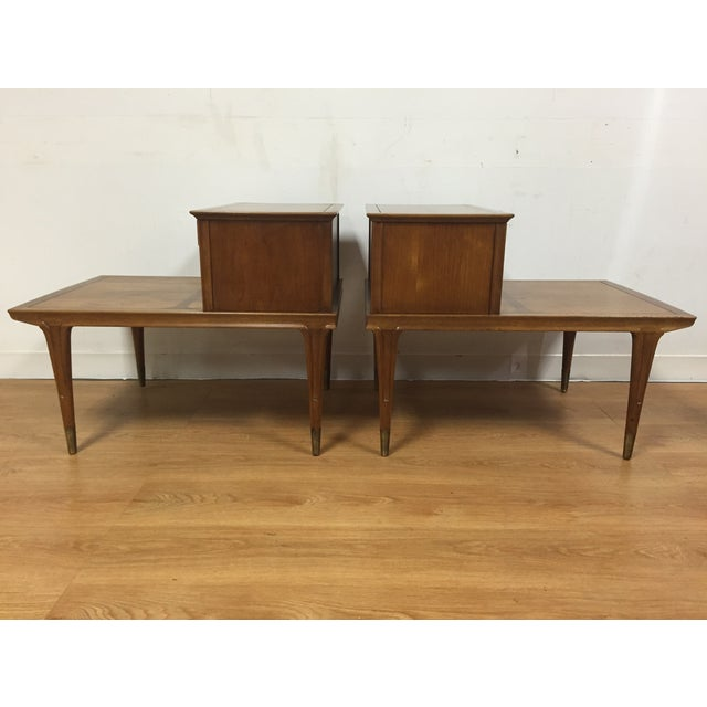 Mid Century Sculpted End Tables - a Pair - Image 5 of 11