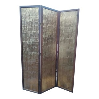 Mid-Century Modern Lucite and Wood Room Divider For Sale