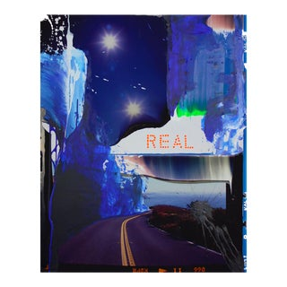 """Contemporary Abstract Photography and Paint on Wood """"Real"""" by Jason Engelund For Sale"""