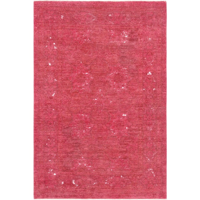 Pasargad Overdye Wool Area Rug- 4' X 6' For Sale