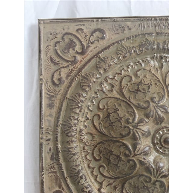 Traditional Style Embossed Metal Decorative Object - Image 3 of 7