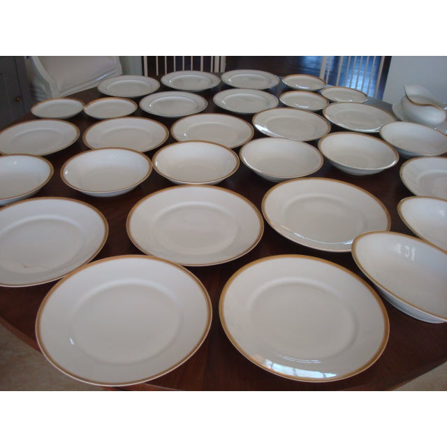 Gold And White Bavaria Dishes - Set of 30 - Image 3 of 11
