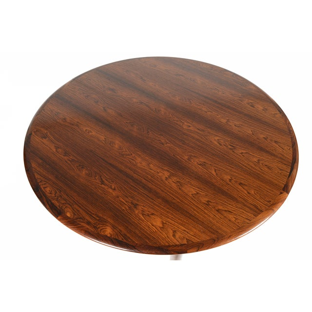 Rosewood Circular Dining Table With Two Leaves - Image 2 of 10