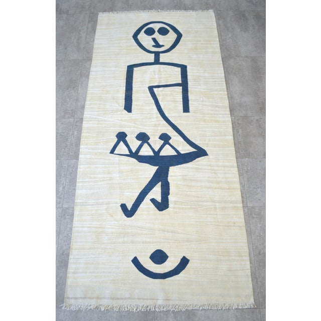 Paul Klee - Pochoir Unfall (Accident) - Inspired Silk Hand Woven Area - Wall Rug 3′ × 6′8″ For Sale In New York - Image 6 of 12