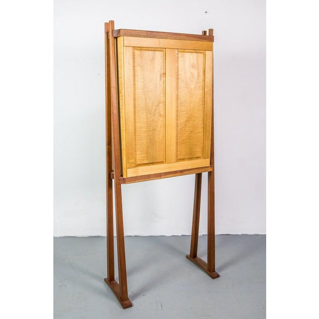 Tall Studio Cabinet in Wood by an American Craftsman For Sale - Image 9 of 10