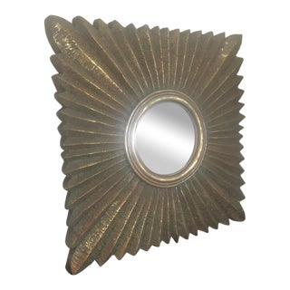 Gold Painted Sunburst Mirror