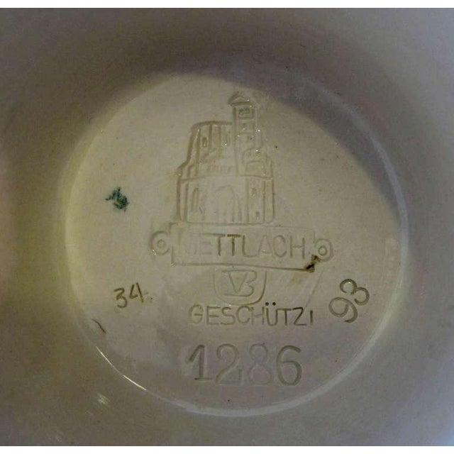 Ceramic Good Quality Pair of German Mettlach Pottery Ewers With Impressed Maker's Mark For Sale - Image 7 of 8