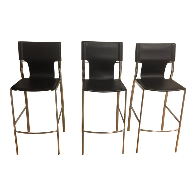 Jensen-Lewis Bar Stools - Set of 3 - Image 1 of 9