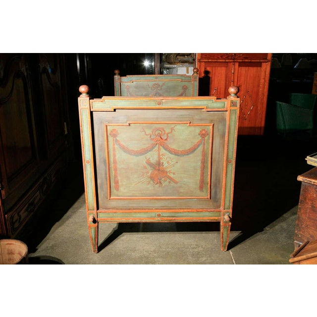 Green Venetian Painted Day Bed For Sale - Image 8 of 8