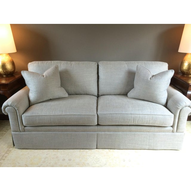 Baker Furniture Custom Sofa With Bill Sofield Fabric - Image 2 of 8