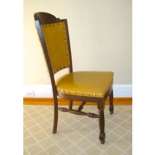 Vintage Oak French Tudor Gothic Desk Chair Preview