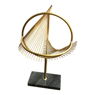 Contemporary Metal Table Top Decor Sculpture For Sale