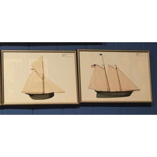 These are the four horizontal prints from the original total of 16 lithos commissioned by nautical artist, John Gardner in...