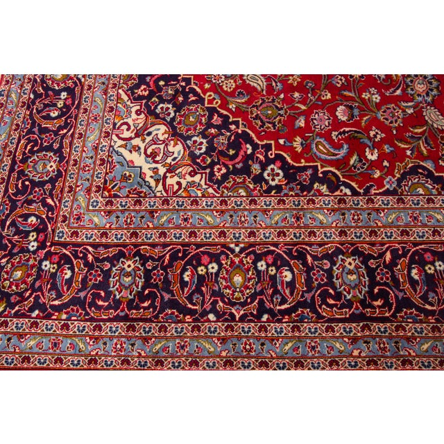 """Vintage Persian Kashan Rug, 9'07"""" X 13'00"""" For Sale In New York - Image 6 of 10"""