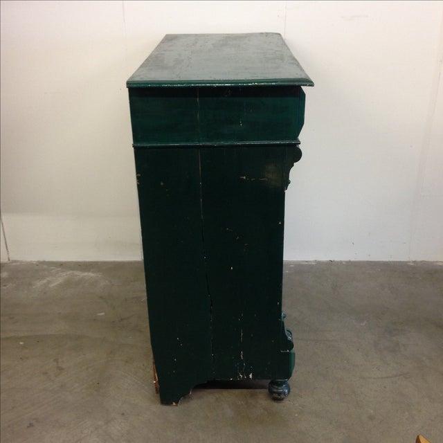 Rustic Antique German Green Painted Dresser For Sale - Image 3 of 11 - Antique German Green Painted Dresser Chairish