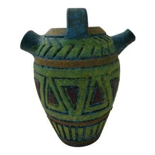Mid-Century Italian Art Pottery Wedding Vase