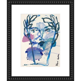 "Medium ""Roman Face"" Print by by Leslie Weaver, 18"" X 22"" For Sale"