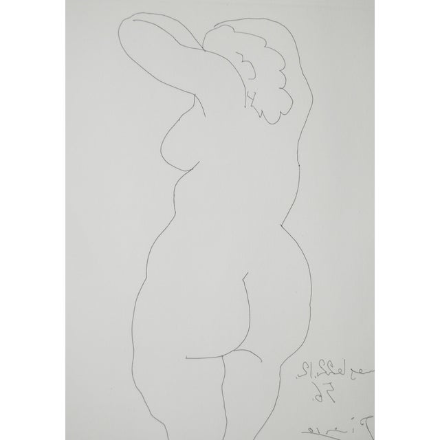 "Mid-Century Modern Picasso Vintage 1956 ""Nu De Dos"" Reverse Etching For Sale - Image 3 of 8"