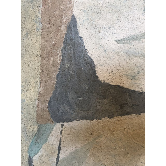 1950s Mid-Century Modern Abstract in Soft Gray Black and Blue For Sale - Image 5 of 12