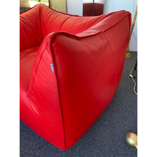 Leather 1970s Le Bambole Armchairs Red Leather by Mario Bellini for B&b Italia For Sale - Image 7 of 13