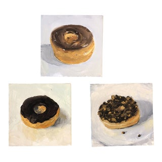 Original Donut Impressionist Contemporary Paintings (3) For Sale