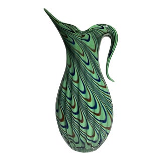 1960s Mid-Century Murano Glass Vase For Sale