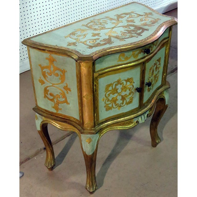 Early 20th Century Antique Louis XV Style Distressed Painted Side Table For Sale - Image 5 of 9