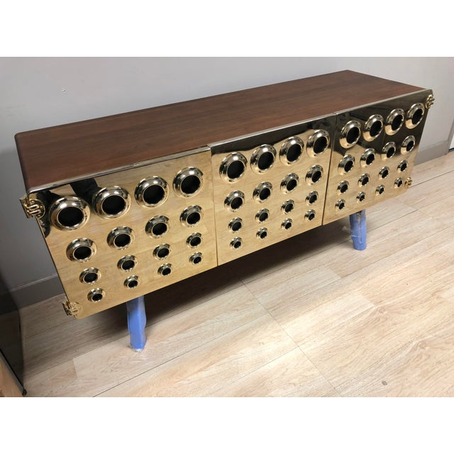 Brass Modern Essential Home Monocle Credenza For Sale - Image 7 of 7