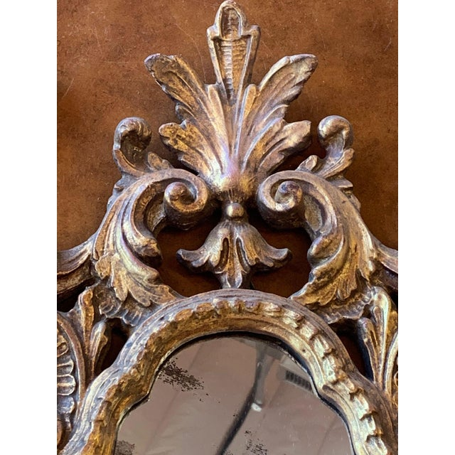 20th Century Italian Rococo Accent Mirrors - a Pair For Sale - Image 9 of 13