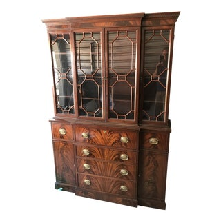 1950s Chippendale Style China Cabinet For Sale