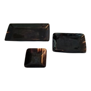 Contemporary Lewes Rectangular Trays - Set of 3 For Sale