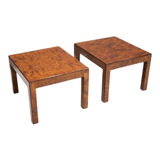 Pair of Burl Wood Side or End Tables 1970s For Sale