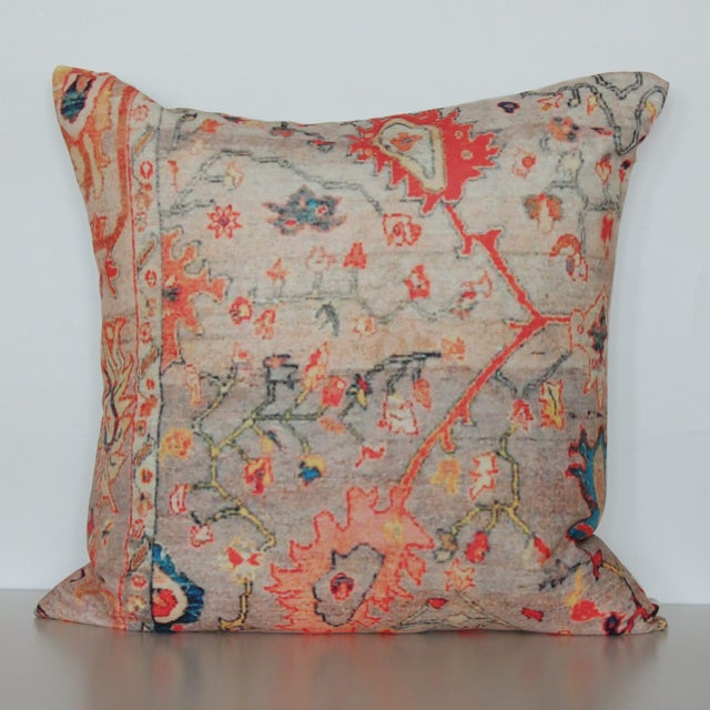 Warm up your place with this lovely pillow cover, printed on versatile polyester and cotton blend with a distressed...