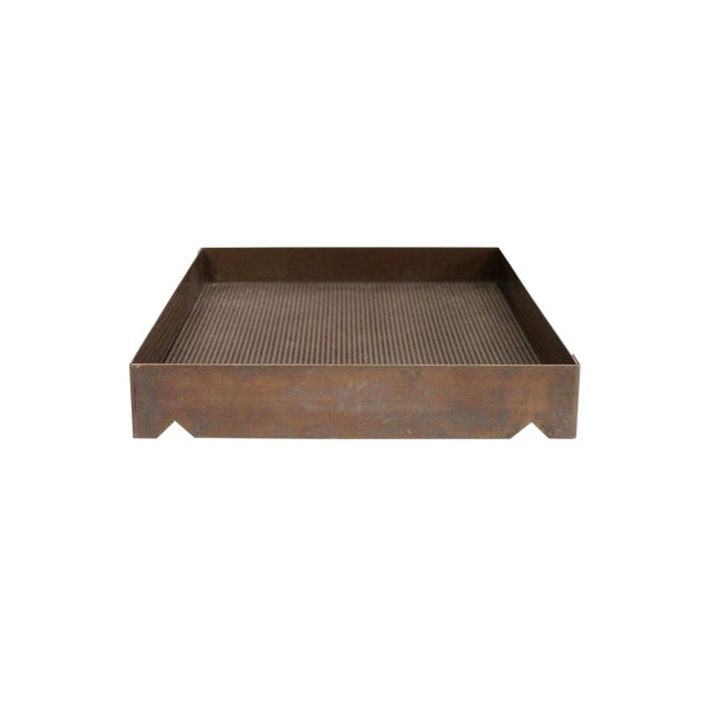 Architectural Bronze Mesh Letter Tray For Sale
