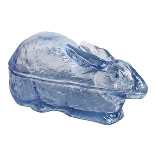 Imperial Glass Lidded Atterbury Rabbit Dish For Sale
