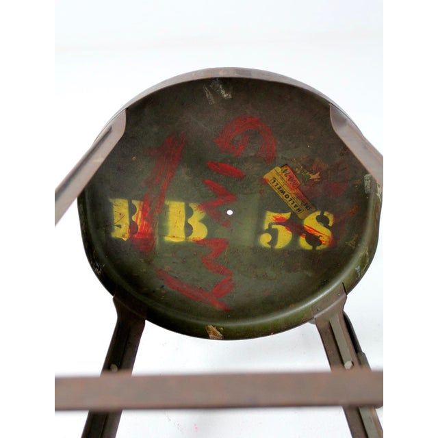 Vintage Industrial Drafting Stool For Sale - Image 10 of 12