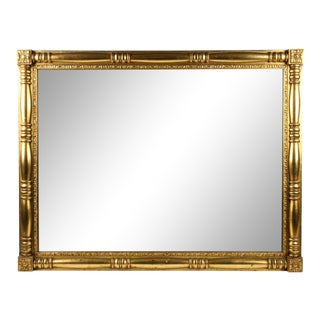 Gilded Wood Framed Mantel or Fireplace Hanging Wall Mirror For Sale