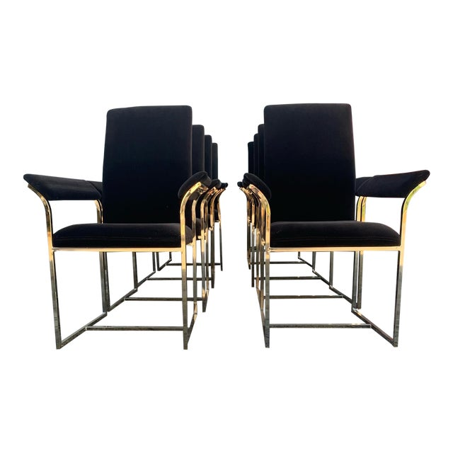 Milo Baughman Style Dining Chairs- Set of 8 For Sale