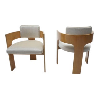 Mid-Century Mohair Club Chairs - A Pair For Sale