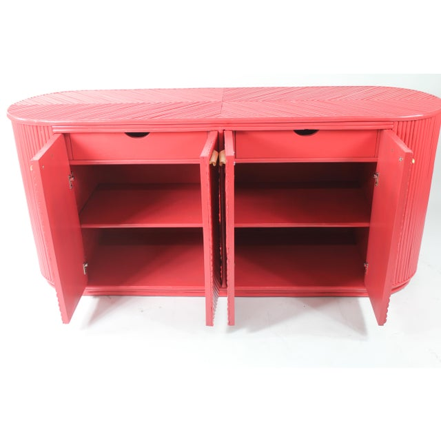 1950s 1950s Mid Century Modern Bamboo Sideboard For Sale - Image 5 of 7