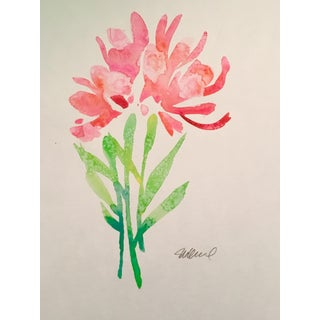"""""""Pink Bunch"""" Original Watercolor Painting For Sale"""