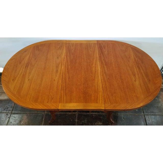 Nathan Furniture Scandinavian Modern Style Nathan Teak Parker Knoll Drop-Leaf Gate-Leg Occasional Dining Table For Sale - Image 4 of 13