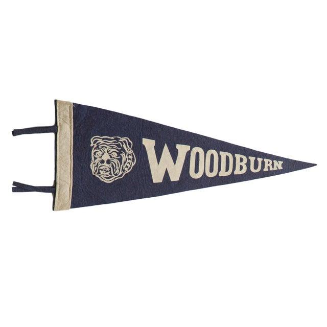 Americana Vintage Woodburn Felt Flag Pennant For Sale - Image 3 of 3