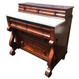 Antique American Empire Flame Mahogany Gentleman's Chest